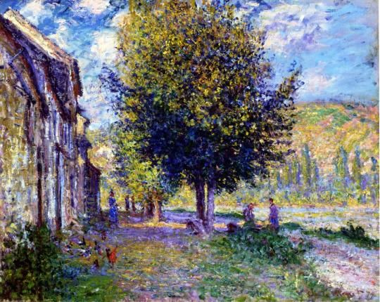 Banks of the Seine at Lavacourt ~ Claude Monet