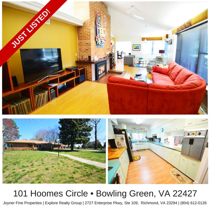 Fully Updated Contemporary Rancher w/ Retro Charm! Offered at only $294,950   101 Hoomes Circle, Bowling Green, VA 22427   2,666 SqFt   3 Bed   2.5 Bath   CVR MLS # 1709583