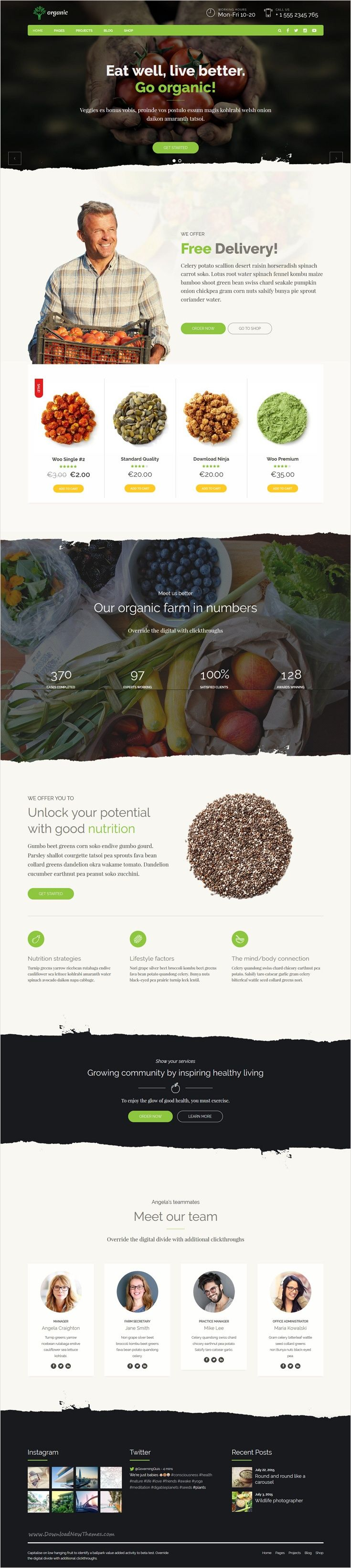 Organic Food is a awesome 9 in 1 #WordPress theme exclusively built for #agriculture #farms, nutritionist, health coach, cooking school, delivery and farm websites download now➩ https://themeforest.net/item/organic-food-nutritionist-food-wordpress-theme/18029019?ref=Datasata