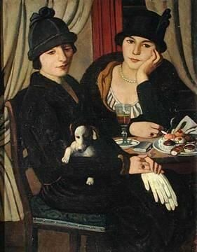 .:. Women in a Cafe, c.1924  Pietro Marussig