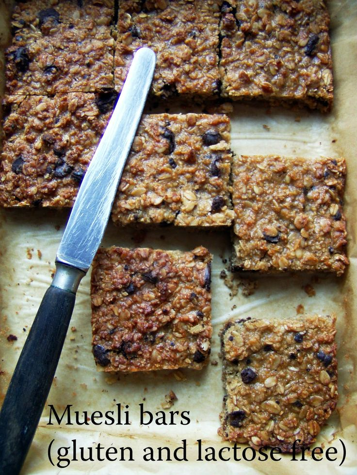TynaTyna: Muesli bars (gluten and lactose free)