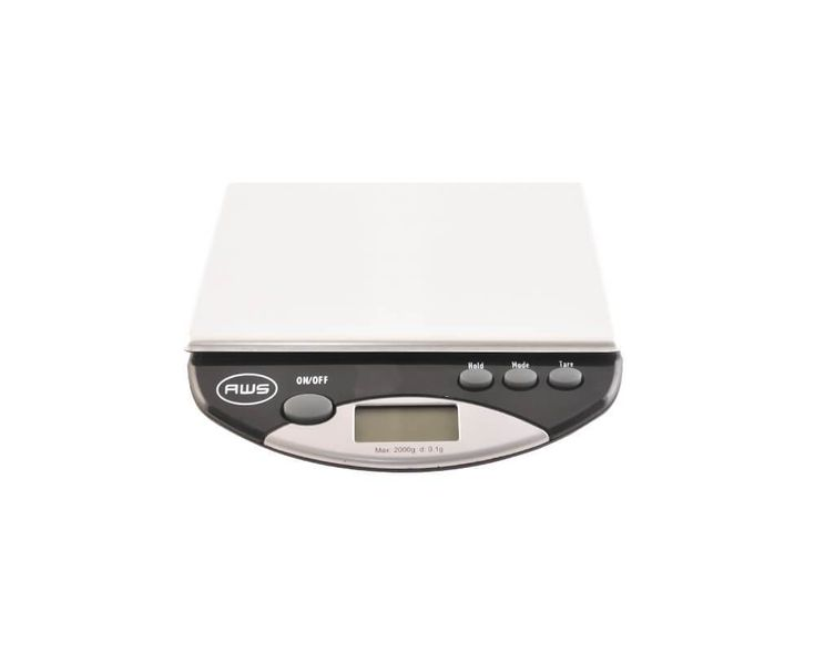 Coffee Gear dosing scale is designed for larger weighing needs (up to 2kg). Large enough and ideal for weighing with a portafilter.