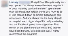 Testimonial from BBC! BudgetBootCamp.com is an online course of over 27 videos and worksheets from finance guru Jordan Page (as seen on GMA, Today Show, US News) that will help you gain control of your budget and finances and whip your wallet into shape!