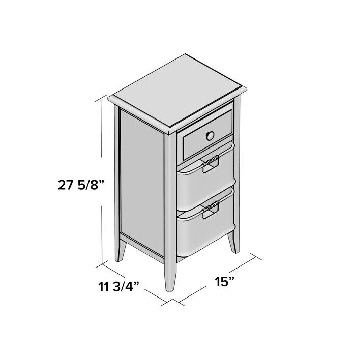 Santa Cruz End Table With Storage End Tables With Storage End