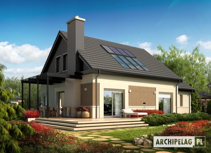 Dom energooszczędny Niki II G1 ENERGO   standard NF40  EUco = 33.53 kWh/(m2rok)
