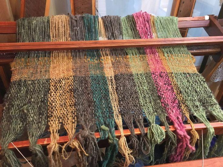 Piecera en proceso de Tilonka Lanas con 100%lana. CLP 100.000