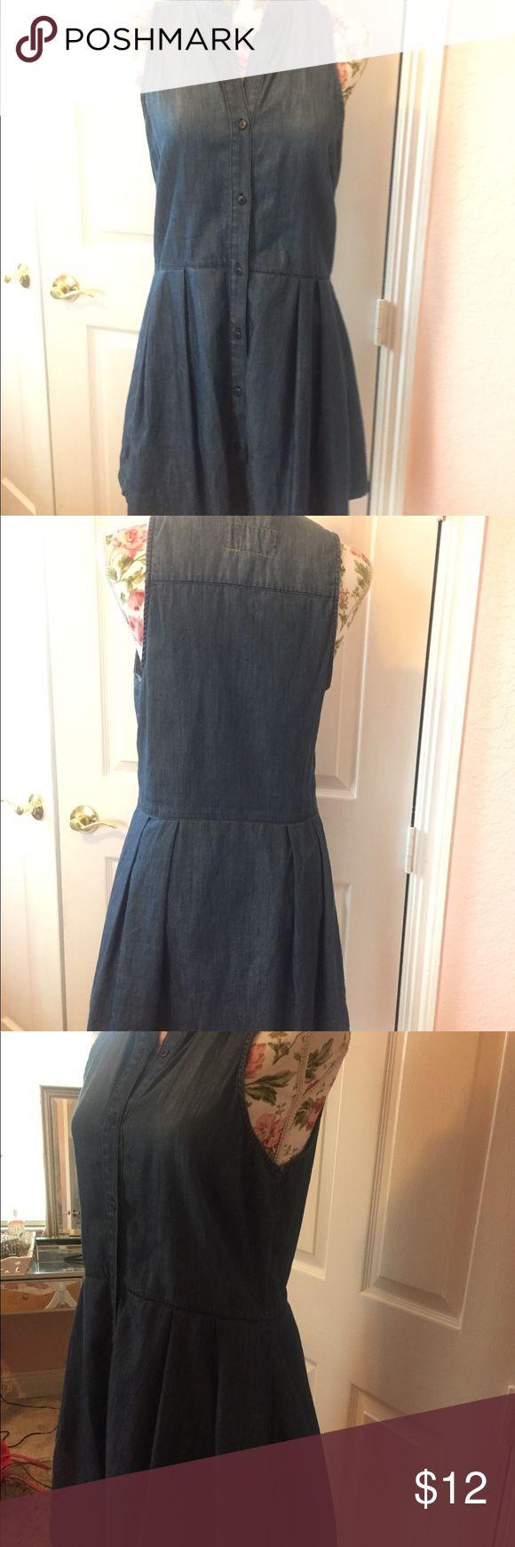 BCBG denim mini dress SMALL Blue jean look button up mini dress no flaws BCBGeneration Dresses Mini