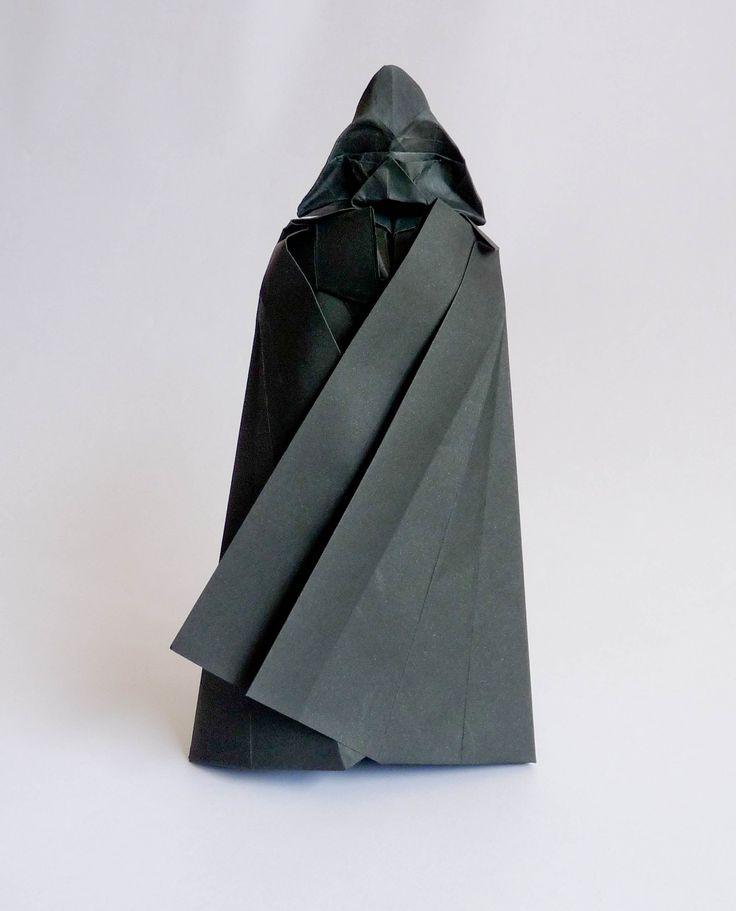 origami Darth Vader tutorial                                                                                                                                                      Más