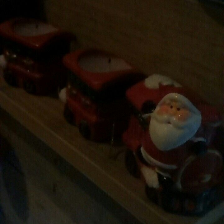 Santa train candle , great buy $5 from new world