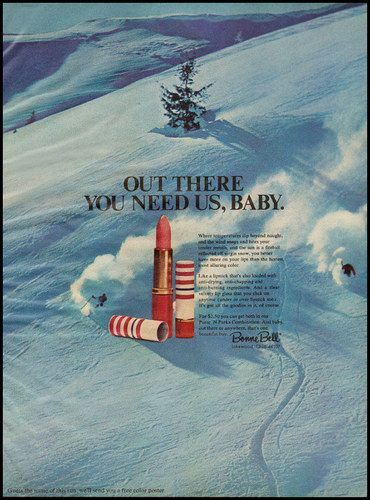 1969 Vintage Bonne Bell lipstick ad