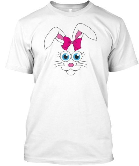 Easter Bunny Shirt Funny Happy Easter  White T-Shirt Front