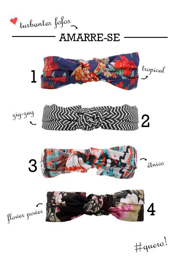 Tendência: Turbantes e lenços para o cabelo - Inspirações e dicas de compras  http://viroutendencia.com/2014/02/08/dicas-de-lencos-e-turbantes-para-comprar-online/