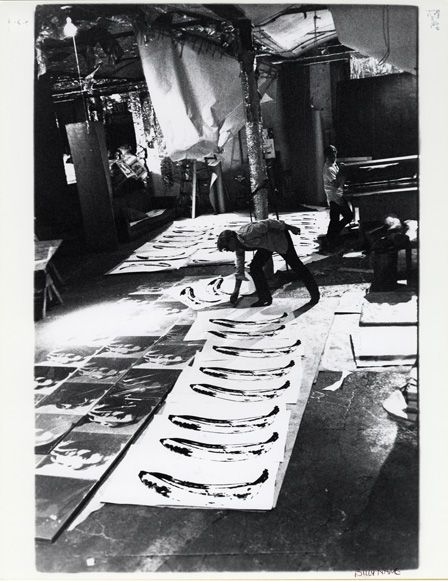 """ANDY WARHOL, Inside """"The Factory,"""" where Warhol developed his signature artistic process, 1967"""