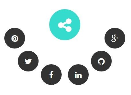 socialCircle is a jQuery plugin that allows the user to reveal and hide radial social share buttons with a toggle button.