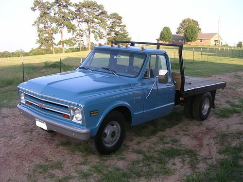 Chevy 1 Ton Dually flat bed | 1968 chevy 1 ton flatbed semi restored