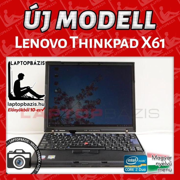Lenovo Thinkpad X61 http://laptopbazis.hu/termek/lenovo-thinkpad-x61-laptop-intel-core-2-duo-t7100-121-lcd-kijelzo-wifi-bluetooth/573