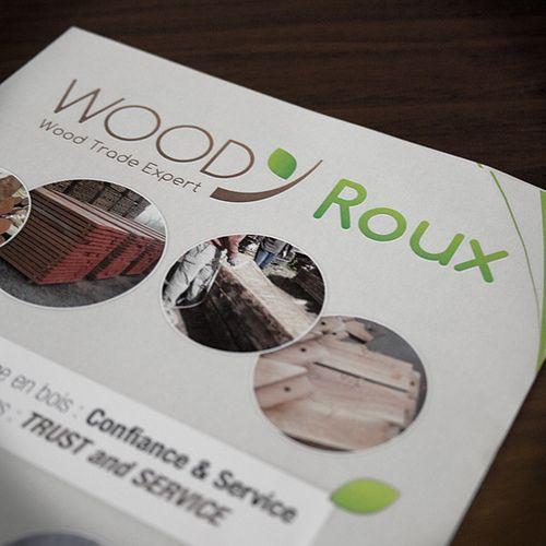 Flyer Woody Roux   #Print #Flyer #Wood #A5