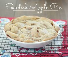 Swedish Apple Pie - No crust worries here; this heirloom recipe makes its own unique crust!
