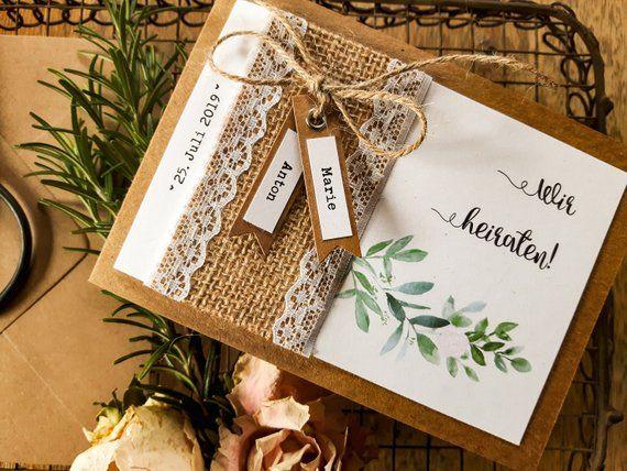 ACHT HOCHZEIT Boho Hochzeit Einladung Vintage | Einladungskarte | Hochzeitskarten | Hochzeitsapetry | Stärke Papier | Rosen | Aqua   – Hochzeit
