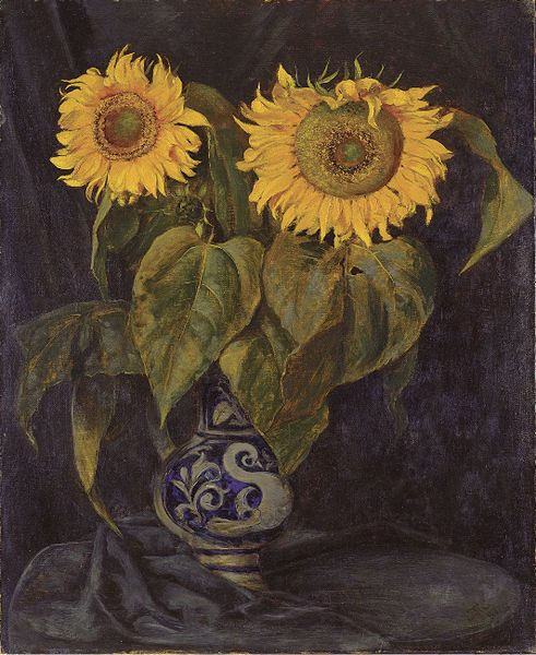 Hans Thoma (German, 1839–1924) - 'Sonnenblumen' (Sunflowers), 1882