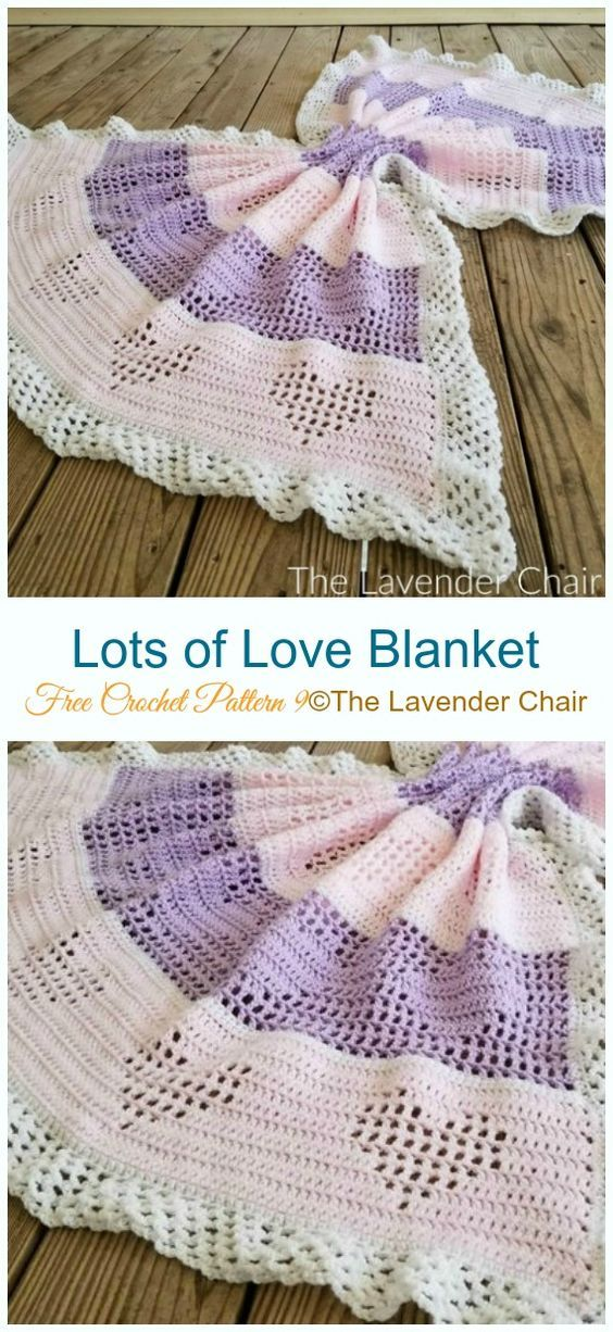 Valentine Heart Throw Blanket Free Crochet Patterns