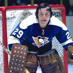 Legends of Hockey - Gallery - Andy Brown (Last NHL Goalie to play without a mask)