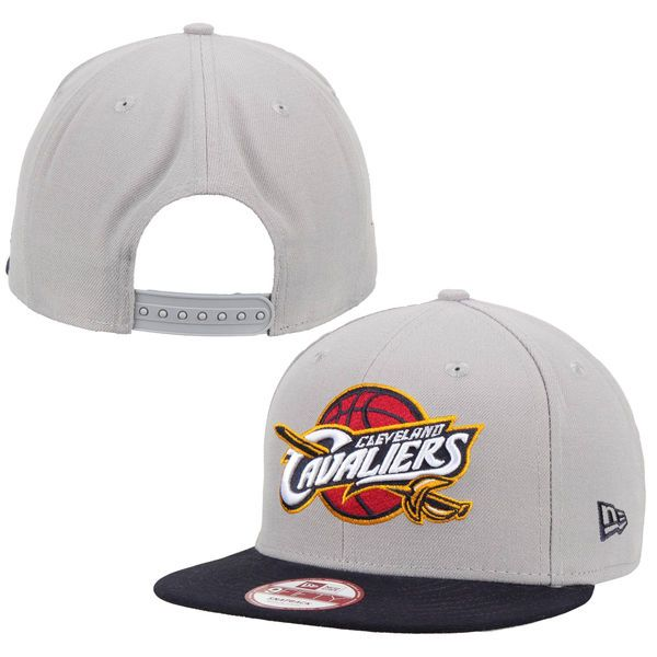 Mens Cleveland Cavaliers New Era Gray Team Logo 9FIFTY Snapback Adjustable Hat, Your Price: $29.99