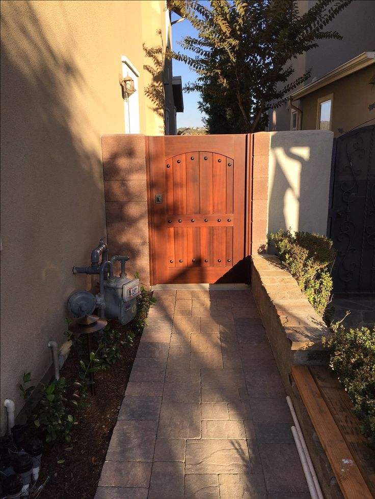 Ordinaire Custom Wood Gate By Garden Passages With Arch In Square Styling And  Decorative Clavos