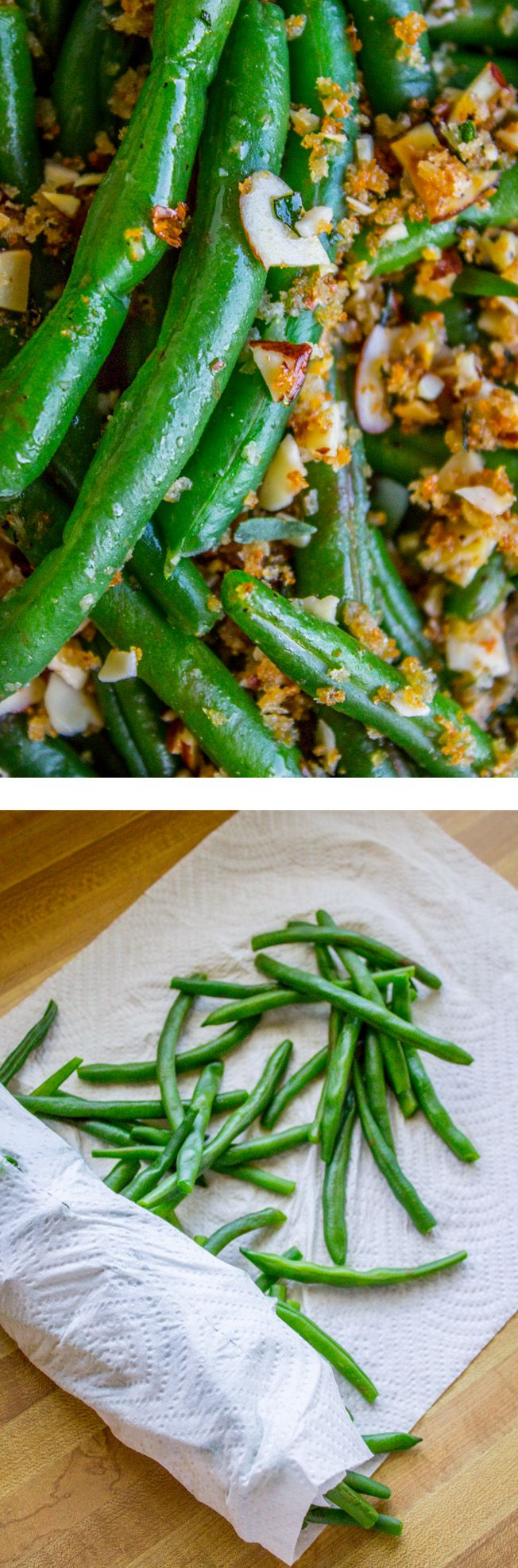 MAKE AHEAD Green Beans with Garlic Bread Crumbs and Almonds from The Food Charlatan. These easy make-ahead green beans are perfect for the holidays! Who's got time for elaborate side dishes? These are simple yet delicious. The garlic bread crumbs and almonds add tons of flavor. This recipe is great for when you are hosting Thanksgiving, Christmas, or Easter.