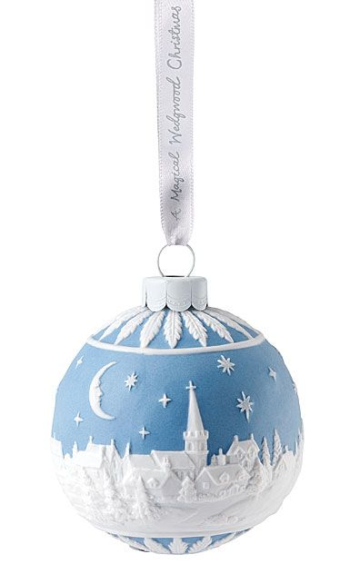 Wedgwood 2018 The Christmas Sky at Night, Porcelain Christmas Ornament - Wedgwood 2018 The Christmas Sky At Night, Porcelain Christmas