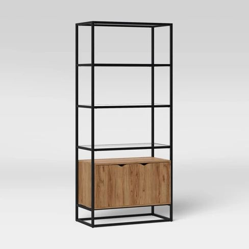 Ada Mixed Material Bookcase With Glass – Project 62™ : Target   – Bookcases