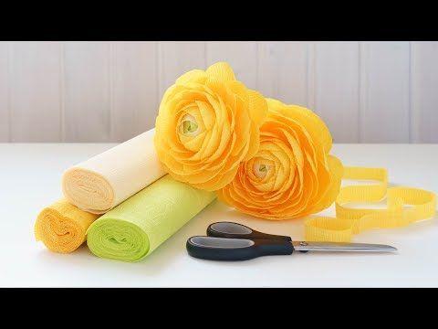 Ранункулюсы из бумаги DIY Tsvoric Ranunculus from paper - YouTube