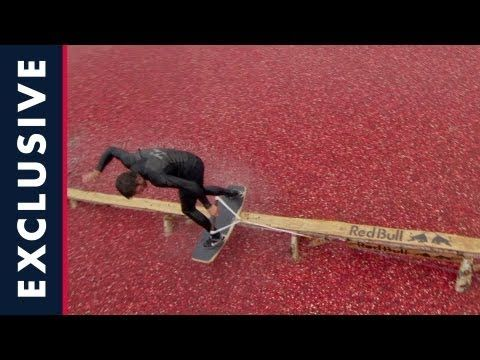"Wow... #redbull #Cranberry Bog - Wakeskating #wake ""What would happen if you pulled a wakeboarder through the ocean of cranberries and filmed with high speed HD film?"" The team assures us that no cranberries were injured during production."