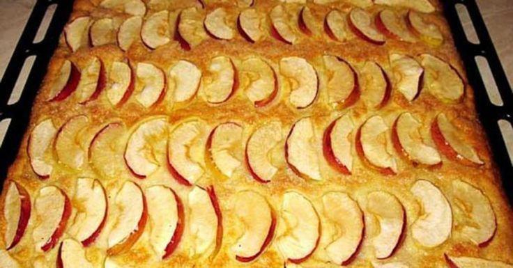 Нежный яблочный пирог за 20 минут. Мой дежурный рецепт на все случаи жизни