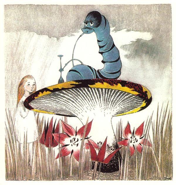 Rare vintage Alice in Wonderland illustration by Tove Jansson (via BrainPickings)