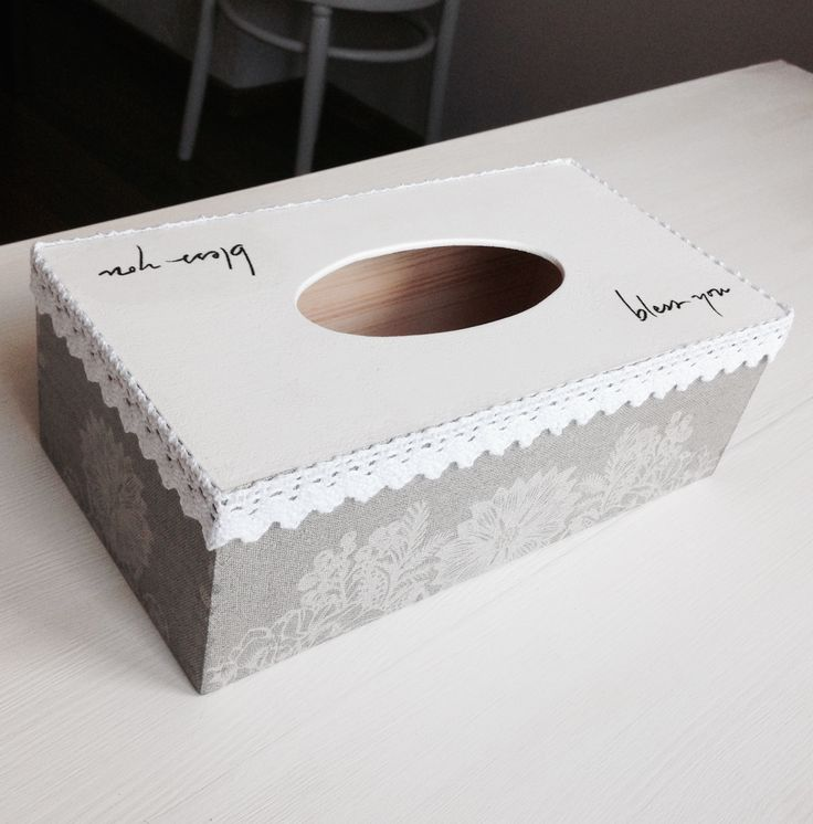 Decoupage - tissue box cover