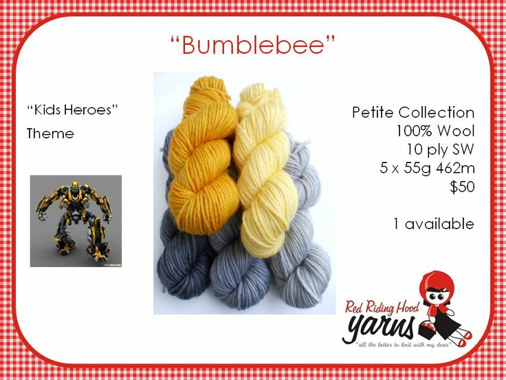 Bumblebee - Kids Heroes | Red Riding Hood Yarns