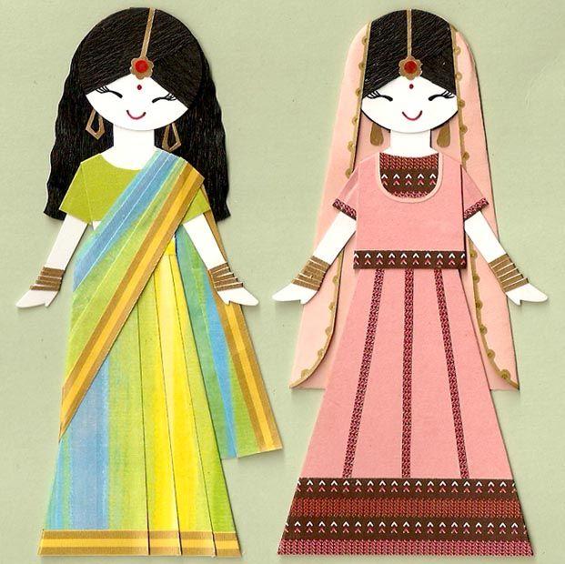 Индийские девушки в сари