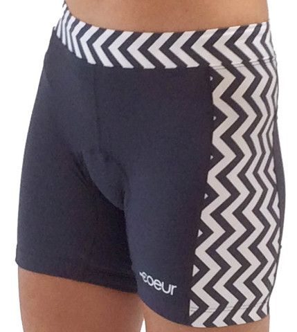 Women's Triathlon Shorts in Chevron Design | High Performance Women's Triathlon Kits, Running and Cycling Gear | Coeur Sports
