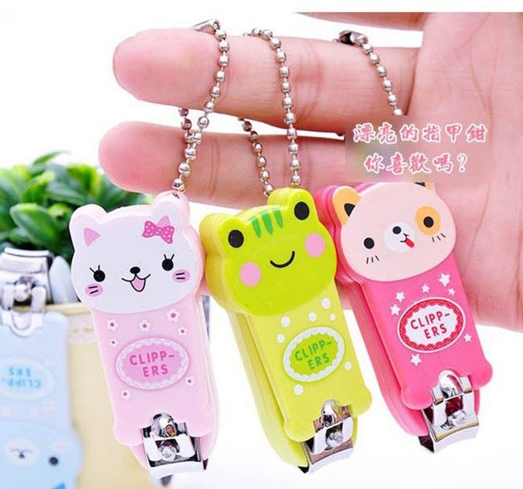 Cute Cartoon Animal Nail Clippers Nail Scissors With Keychain Manicure Kits #NA