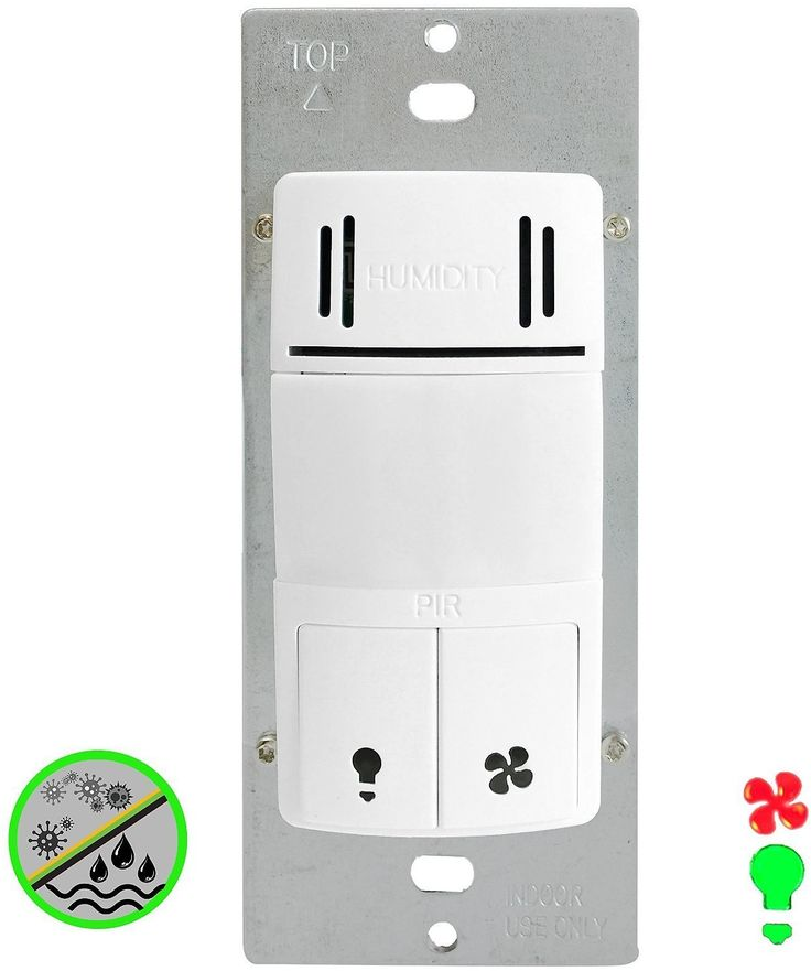 Enerlites DWHOS-W 2-in-1 Humidity Sensor Switch and Motion Detector Control Both Bathroom Fan and Light Independently,… #coupons #discounts