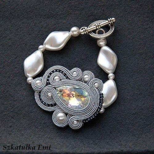 Silver soutache