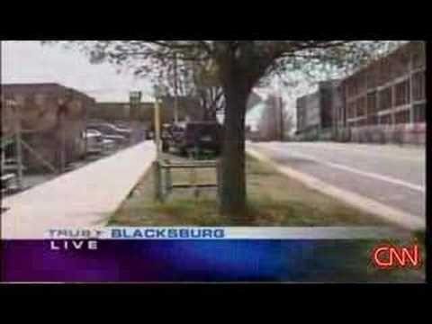 Virginia Tech Shooting - First report of CNN