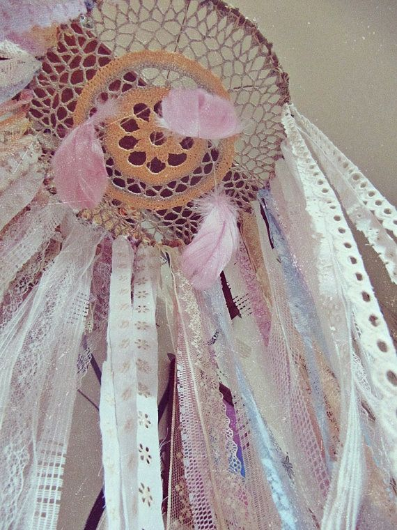 - Made To Order -   Bohemian baby crib canopy  with plenty  of laces stripes and feathers, also goes like #dreamcatcher mobile.  Very boho nursery decor   Available in vario...