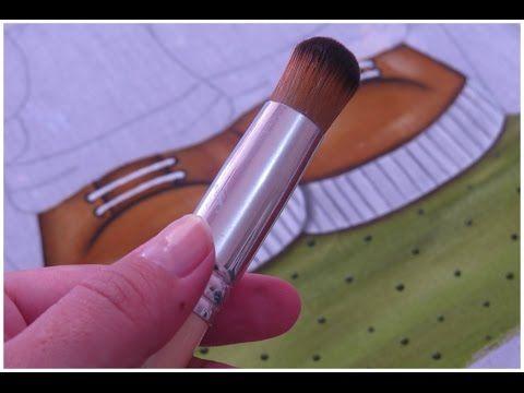 Pintura em tecido - Efeito Pelinhos - Ursinha Fofa parte 2 - YouTube