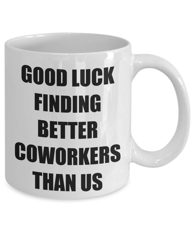 Good luck funny coworker mugs farewell gift for worker
