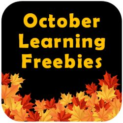"October Learning Freebies Link Up - Discover ""Halloween-free"" activities to engage your students in learning during the month of October (Grades 3 - 6)"