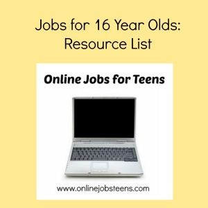 Jobs for 16 Year Olds. #jobsforteens #onlinejobs #workathome