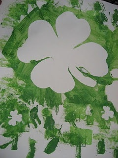 Shamrock Shadows. Great exploration and sensory activity to work on learning St. Patrick's day vocabulary.