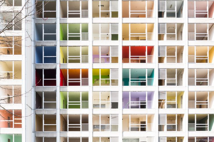 Gallery - A Colorful Demolition: The Abandoned Interiors of Ghent's Rabot Towers Revealed - 1